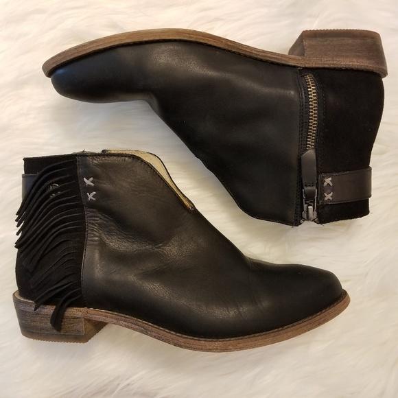0aeaa3ae8aa Koolaburra by UGG❤Black Leather Fringe Ankle Boot